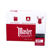 Master Billiard Chalk, 12 Per Box Black