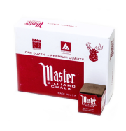 Master Billiard Chalk, 12 Per Box Brown