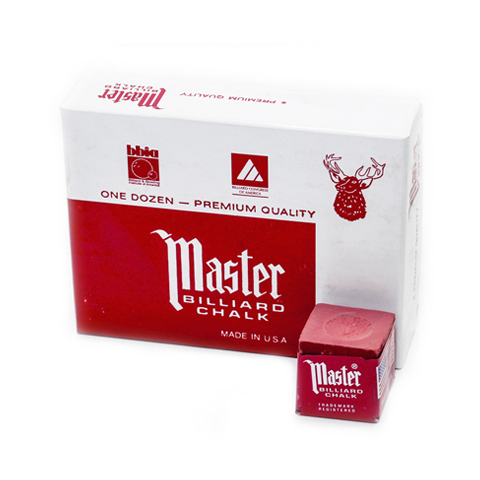 Master Billiard Chalk, 12 Per Box Red
