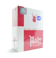 Master Billiard Chalk, 144 Per Box Blue